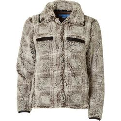 Solid Button Down Terry Jacket