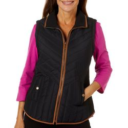 Jason Maxwell Women's Solid Quilted Vest