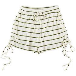 Le Lis Womens Striped Drawstring Shorts