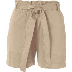 Sanctuary Womens Solid Tie Waist Shorts