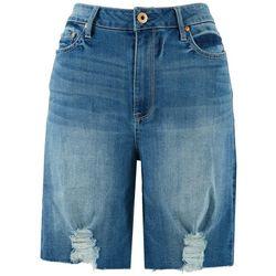 American Rag Womens High-Rise Denim Bermuda Shorts