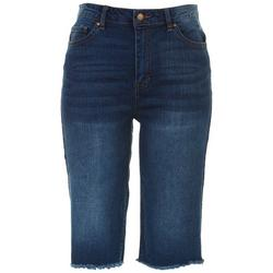 Womens Reclycled Denim Knee Grazer Pants