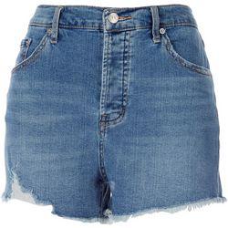 Jessica Simpson Womens Soft Frayed High Waist Denim Shorts