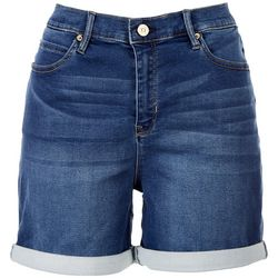 Nicole Miller High Rise Roll Cuff Shorts
