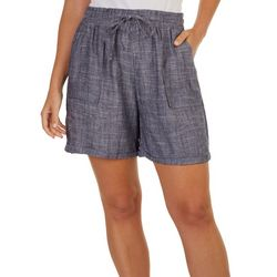 Royalty By YMI Womens Solid Linen Shorts