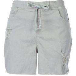 Royalty Womens Pull-On Denim Shorts