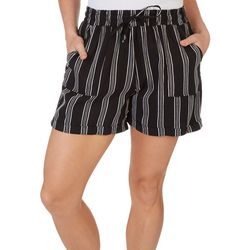 Royalty By YMI Womens Striped Linen Shorts