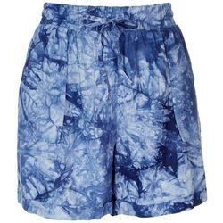 Royalty By YMI Womens Tie-Dye Linen Shorts