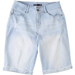 Royalty by YMI Womens Hide Your Muffin Top Bermuda Shorts