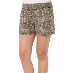 Democracy Womens Floral Super Soft Printed Shorts
