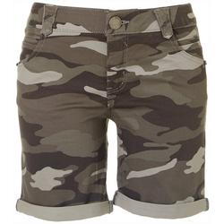Womens Camo Printed Shorts