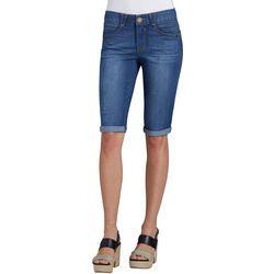Democracy Womens Roll Cuff Jean Bermuda Shorts