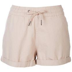 Rag Supply Womaens Solid Drawstring Solid Shorts