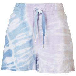 C&C California Womens Rainbow Tie-Dye Shorts