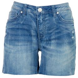 Seen 7 Womens Cut Off Denim Shorts