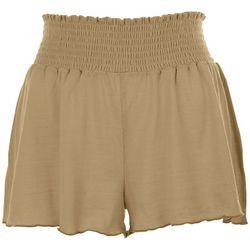 HYFVE Womens Smocked Waistband Shorts