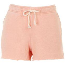 Double Zero Womens Solid Drawstring Drawstring Shorts