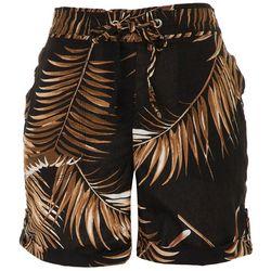 Per Se Womens Paperbag Tropical Shorts