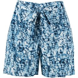 Per Se Womens All-Over Tie-Dye Shorts
