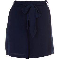 Dept 222 Womens Tie Waist Hem Shorts