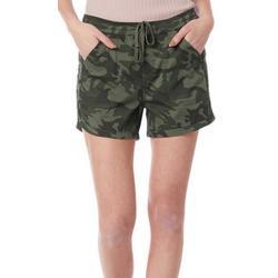 Womens Camo Roll Shorts