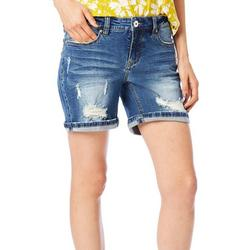 Womens Ripped Denim Shorts