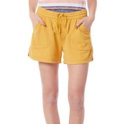 Womens Textured Shorts