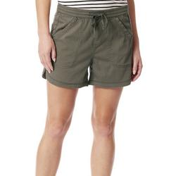 Womens High Rise Solid Shorts