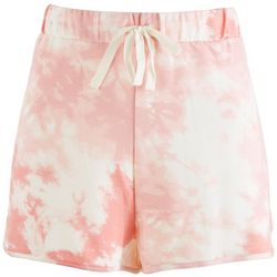 Como Vintage Womens Tie Dye Drawstring Shorts