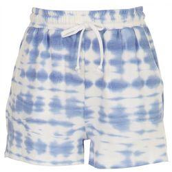 Como Vintage Womens Tie-Dye Clouds Cozy Shorts