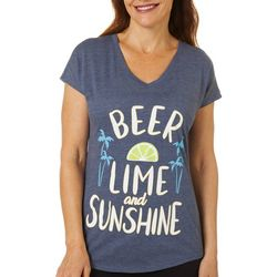 Florida Strong Womens Beer Lime And Sunshine V-Neck