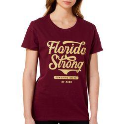 Florida Strong Womens Garnet & Gold Logo Graphic T-Shirt
