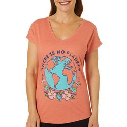 Womens There Is No Planet B V-Neck T-Shirt