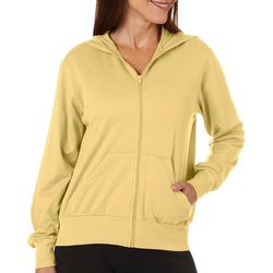 Hot Cotton Womens Solid Zippered Long Sleeve Jacket