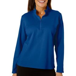 Hot Cotton Womens 1/4 Zip Long Sleeve Pullover