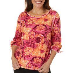 Hot Cotton Womens Tie Dye Tie Sleeve Round