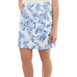 Hearts of Palm Womens Essential Tech Stretch Floral Skort