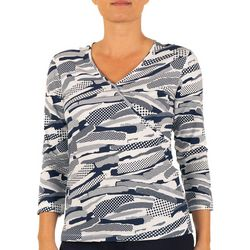 Womens Stripes and Sails Dotted Top