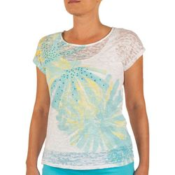 Hearts of Palm Womens Lighten the Mood Floral Top