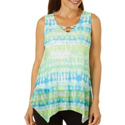 Hearts of Palm Womens Color Binge Tie Dye Top