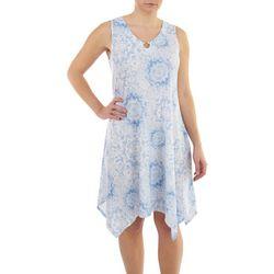 Hearts of Palm Womens Mandalas Scoop Neck Dress