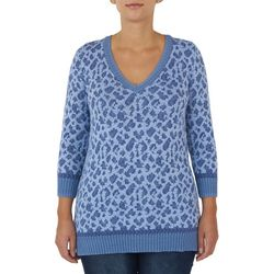Hearts of Palm Womens Leopard Printed Sweater