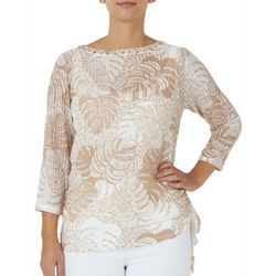 Hearts of Palm Womens Palms Side Tie Top