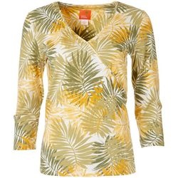 Hearts of Palm Womens Tropical Surplice Top