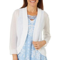 Hearts of Palm Womens Color Binge Solid Knit Cardigan