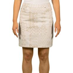 Hearts of Palm Womens Stay Neutral Patchwork Stretch Skort