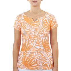 Hearts of Palm Womens Summer Vacay Split Neck Top