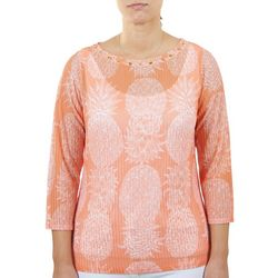 Hearts of Palm Womens Pineapple Layer Top