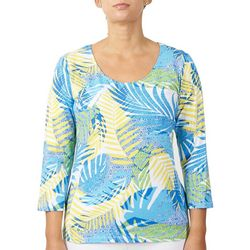 Hearts of Palm Womens Tribal Fern Top