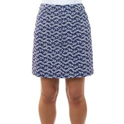 Hearts of Palm Womens Anchors Stretch Skort